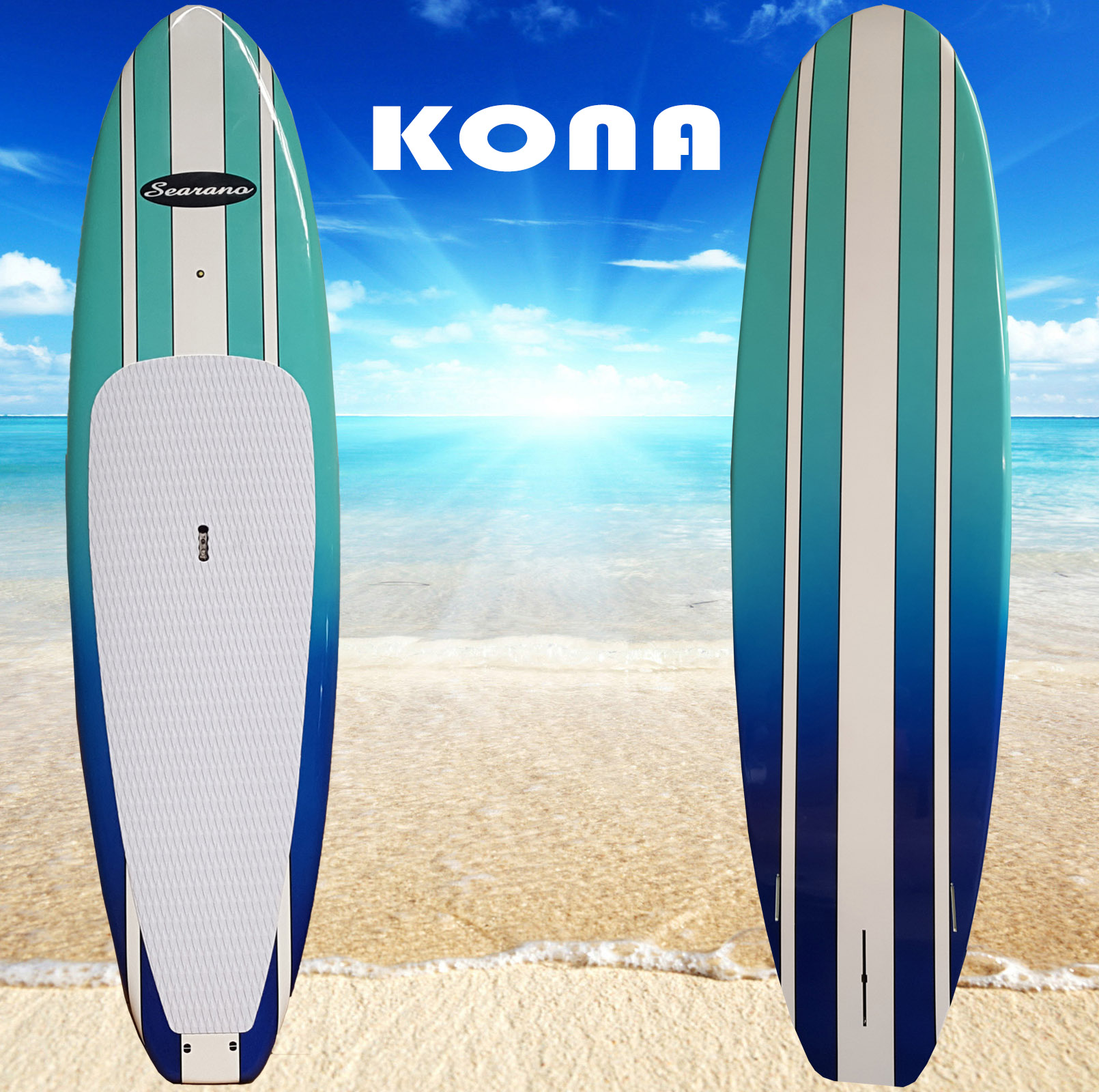 New Model Kona Stand Up Paddle Board Now With White Deck